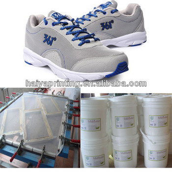 Water Based Screen Printing Silicon White& Clear Ink/Paste For Shoe  For 361 Degree Shoe Factory