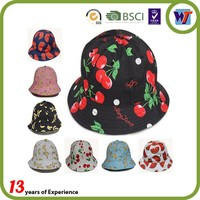 Lovely cheap custom sublimation prited bucket caps kids plain bucket hats