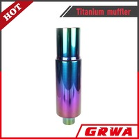 Wholesale Stainless Steel Titanium Colorful Muffler