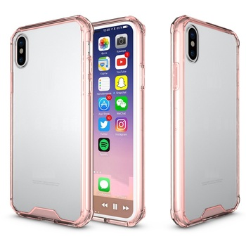 Acrylic PC TPU Case for iPhone X, for iPhone X TPU PC Shockproof Case
