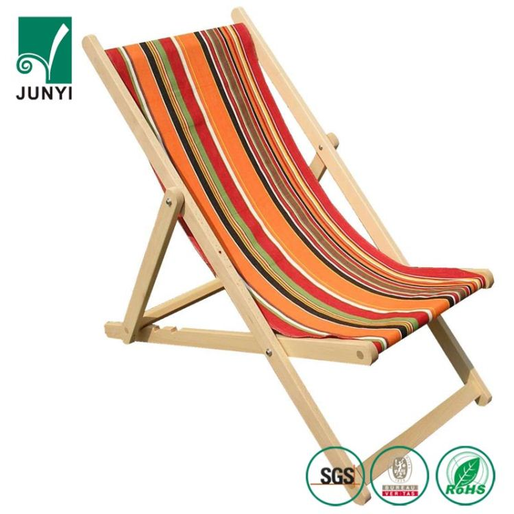 foldable wooden beach deck chair wood & canvas outdoor chairs