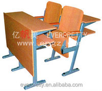Commercial portable folding wooden steel table and chair set