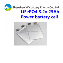 Factory price 2000cycles life energy power 5C 3.2v 25Ah LiFePO4 battery pouch cell
