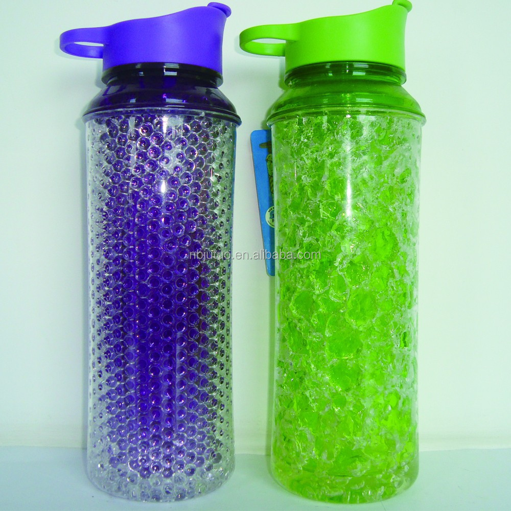 550ml Double wall drink bottle with freezing GEL
