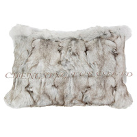 CX-D-45A Home Decor Pillow Cases Real Fox Fur Cushion Covers Decorative