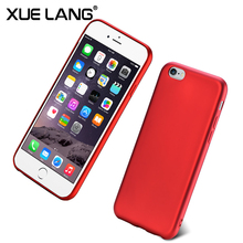 red soft phone case for iphone 6 7 8 plus
