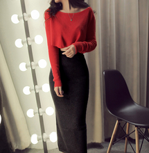 W70846G design women skirts and blouse set women pencil skirt +knit blouse suits tops clothes women in pure