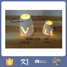 Popular quality design ceramic led lantern light for decoration