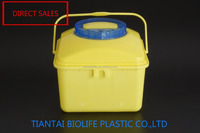 5-Liter opaque yellow cytostatic container sharp container