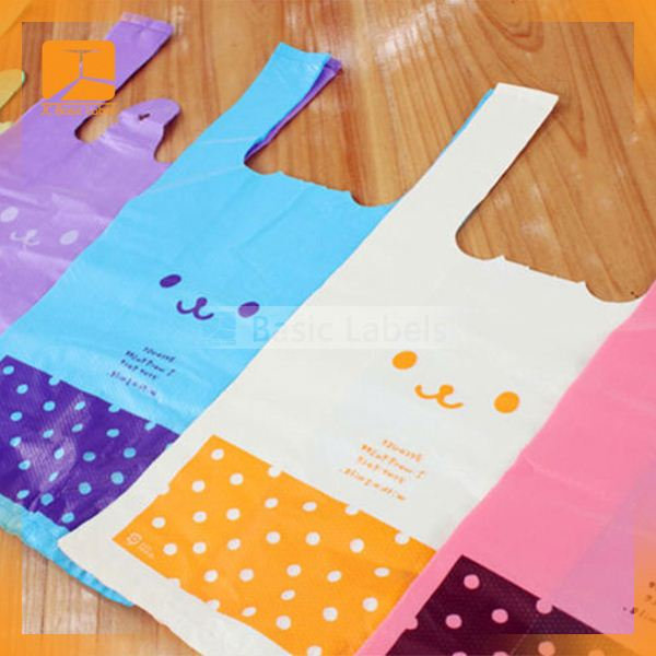 2015 custom t shirt printing best selling high quality plastic Shopping bag made in China