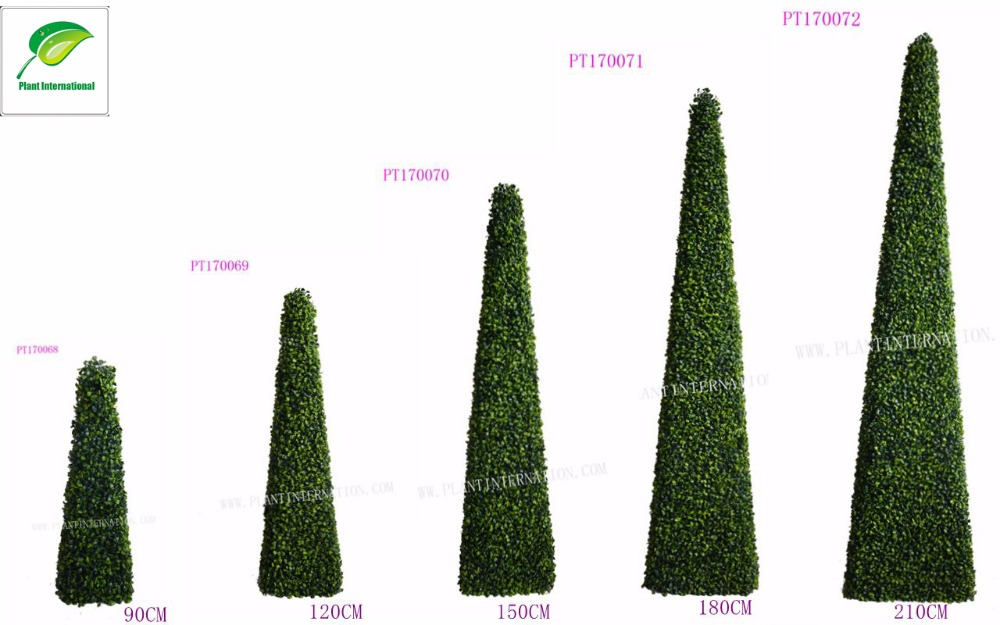 UV resistance Protective plastic Artificial boxwood topiary pyramid trees decoration indoor/outdoor