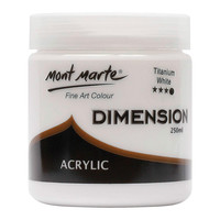 Mont Marte Dimension Acrylic Paint 250mls - Titanium White