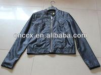 14PJ1126 Lady fashionable motorcycle jacket leather