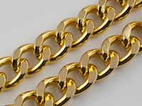 - Antiqued Gold - Aluminum Curb silver and gold plated open link chain