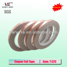 Free shipping! High quality copper foil tape, conductive copper tape, 0.05mm*10mm*30m
