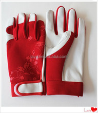 Fashion design silk printed gardening gloves