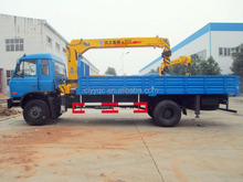 DONGFENG 4X2 truck mounted crane hydraulic small crane for truck