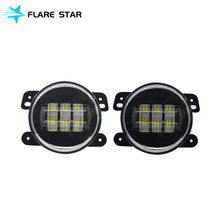"4"" Led Fog Lights for Jeep Wrangler JK 07-16, Off Road Fog Lamps, Led Driving Light"