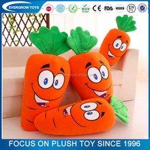 Promotional vegetable pillow toy plush stuffed carrot toy