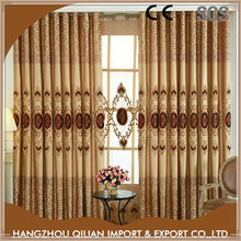 Blackout home design fancy curtains with embroidery