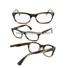 High Quality Natural Fashion Buffalo Horn Rimmed Glasses