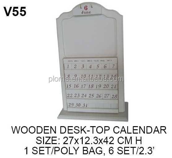 DESK-TOP wooden calendar