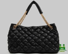 The new black ladies sheep leather bag ling chain bag shoulder bag