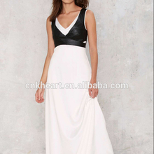 Latest maxi detachable harness women latest dress