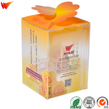 wanli brand custom eco-friendly artistic new raw materials PET PP PVC clear plastic box gift clear packaging box