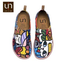 UIN custom made canvas DIY design color size printed safety shoes for men and women