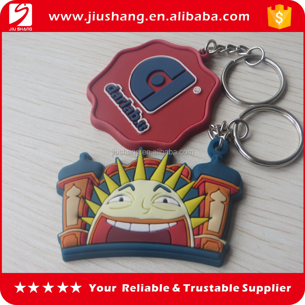 cheap custom fashion 3d pvc keychains for wholesale