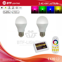 2x 2.4g RGBW 6w bulb e27 led light + Mi light touch screen remote control + 2.4g wifi controller by USB
