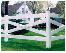 White Vinyl Privacy Fence Panels/ pvc horse fence