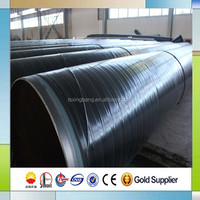balck seamless steel pipe with ASTM A120 standard coated by pe anti-corrosion layer for oil gas service pipe