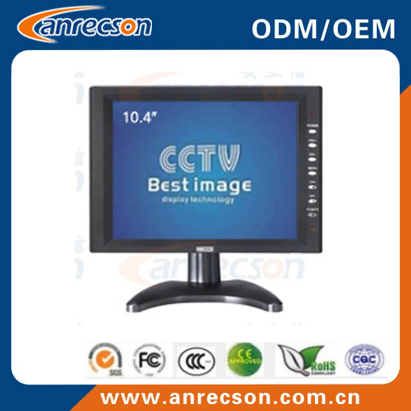 10.4 inch lcd cctv monitor with wall mount function and industrial panel pc