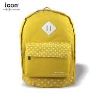 Yellow dot pattern 600d polyester backpack