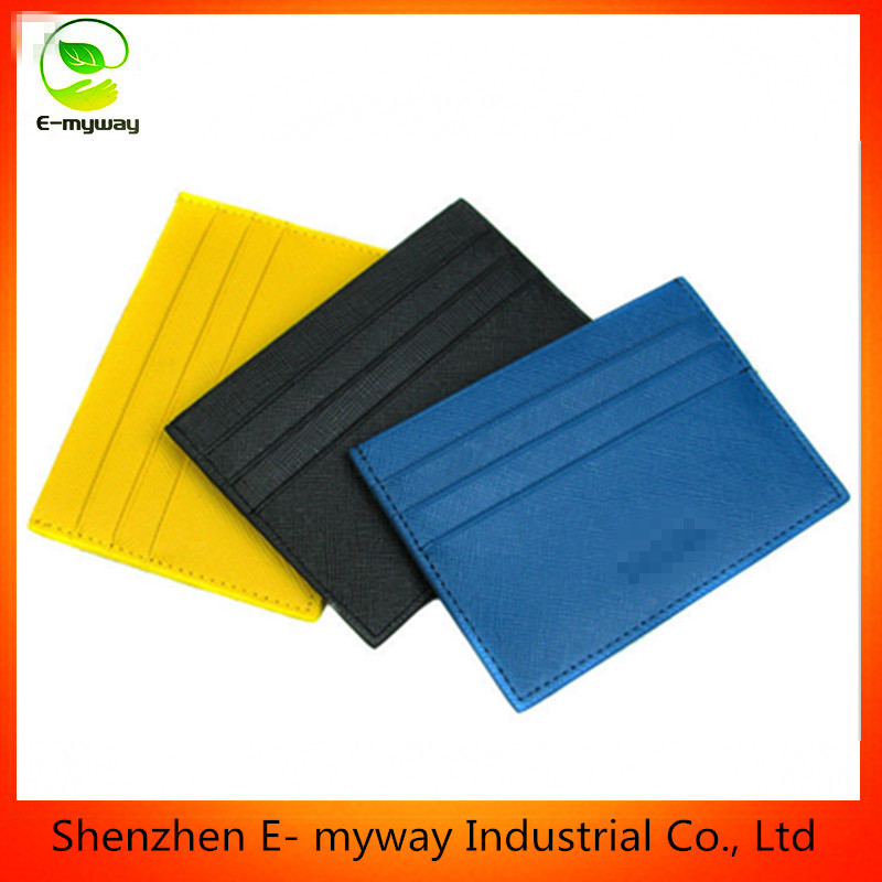 cheap faux Leather Material id card holder