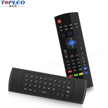2017 New Design 2.4ghz backlit MX3 Air Mouse for pc android tv box remote control wireless backlit keyboard