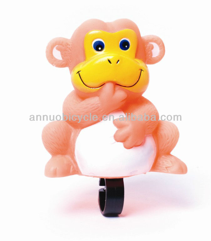 Monkey cartoon bicycle bell