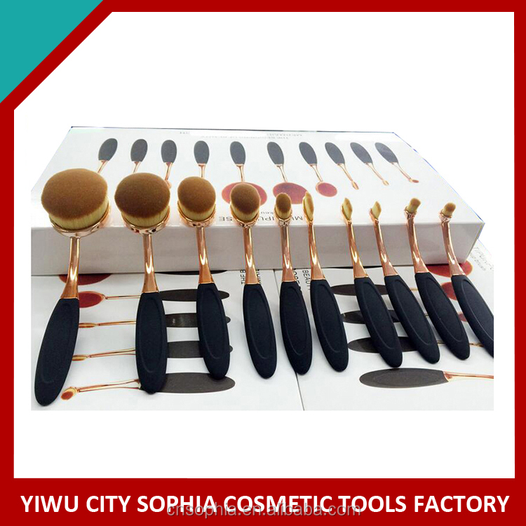 private label oval flat top Foundation brush,China Manufacturer,Makeup brush Christmas gift