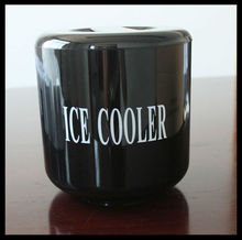 black plastic PS double wall ice bucket ice cooler