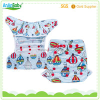 2016 waterproof PUL double gussets baby fitted / prefold cloth diaper cover