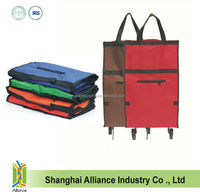 600D Polyester Promotional Trolley Shopping Bag