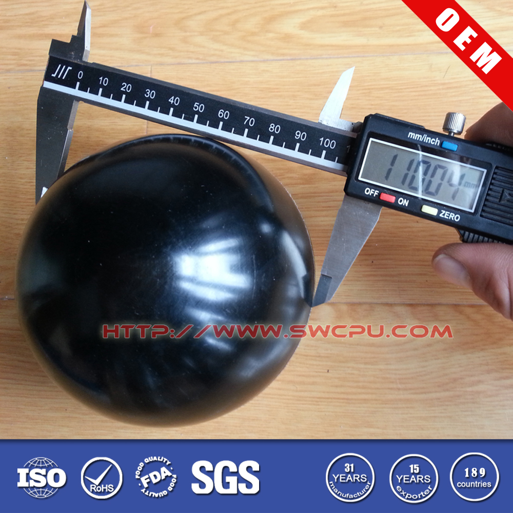 Best quality customized dimple half rubber ball