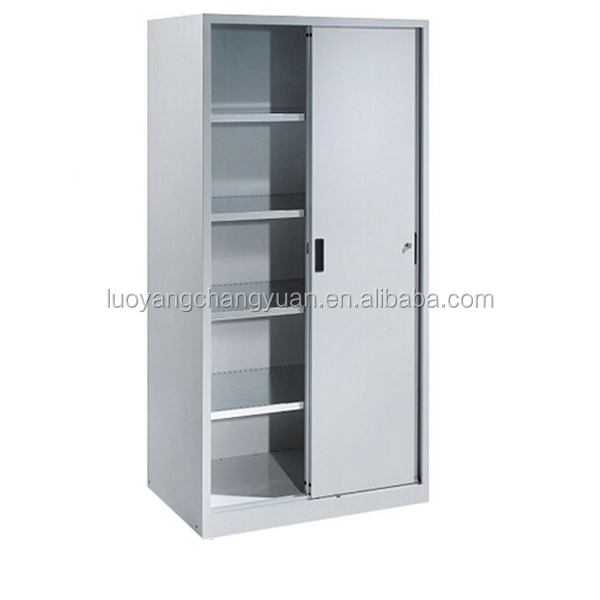 Quick delievery low price 2 sliding door filing cabinet office file rack