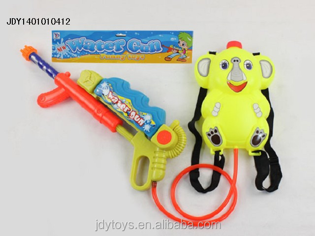 Newest lovely cartoon backpack water gun toy, Plastic animal water gun toy,Water spray gun toy