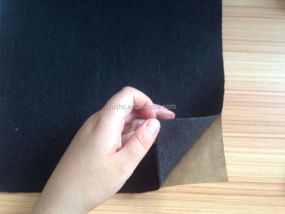Colorful polyester nonwoven fabric with self adhesive felt/adhesive backed fabric/felt sticker