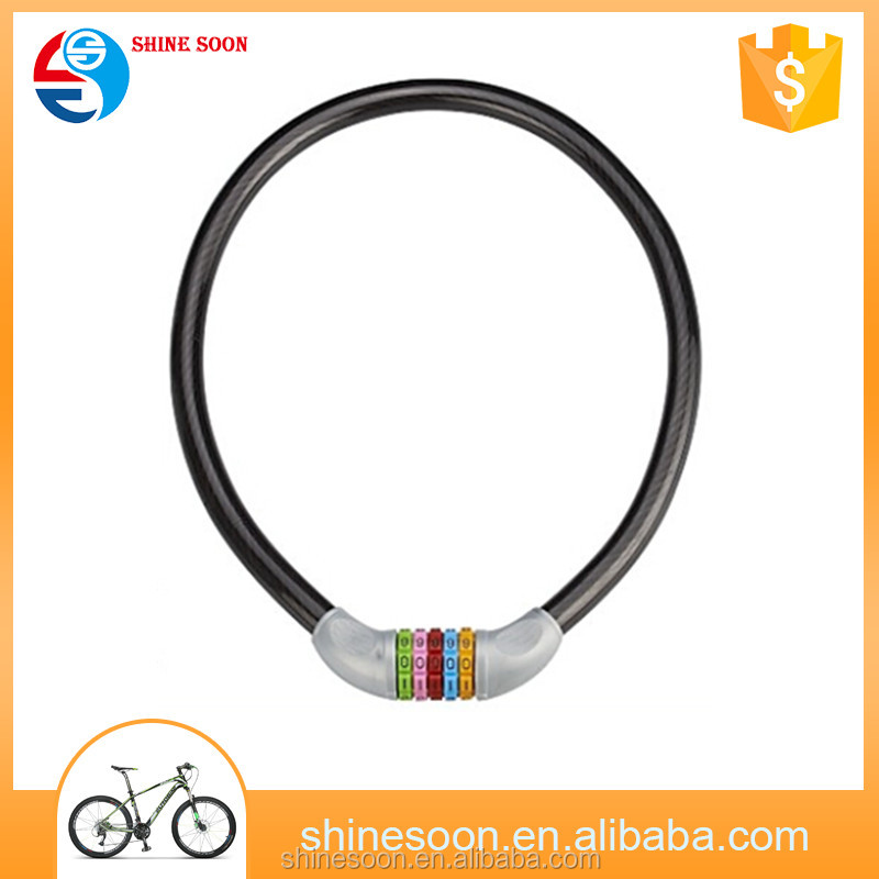 New Security New 5 Digital Password Bike Lock Bicycle Mountain Bike Code Combination Steel Cable Lock