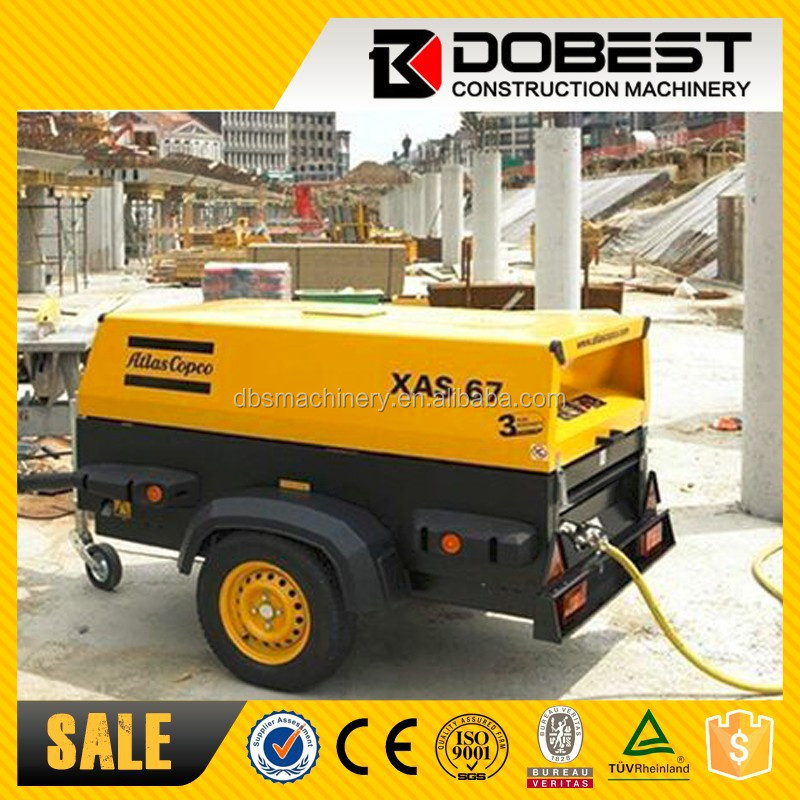 58KW Deutz Diesel Engine Atlas XAS137 Mining Mobile air compressor