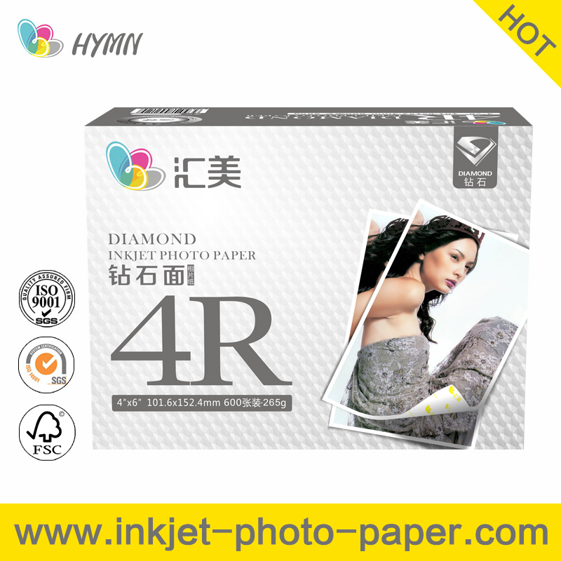 265gsm Diamond gloss digital minilab photo paper for printing money